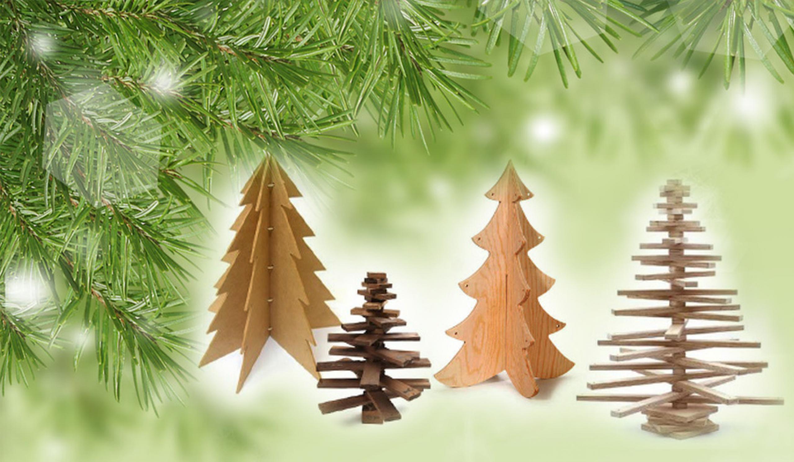 Jak vyrobit dřevěný vánoční stromek